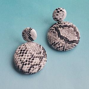 Jewelry - Snakeskin Double Circle Earrings